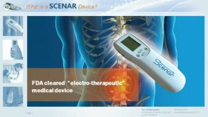 What is a SCENAR Device?